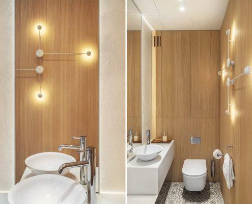 Aranżacja toalety w drewnie