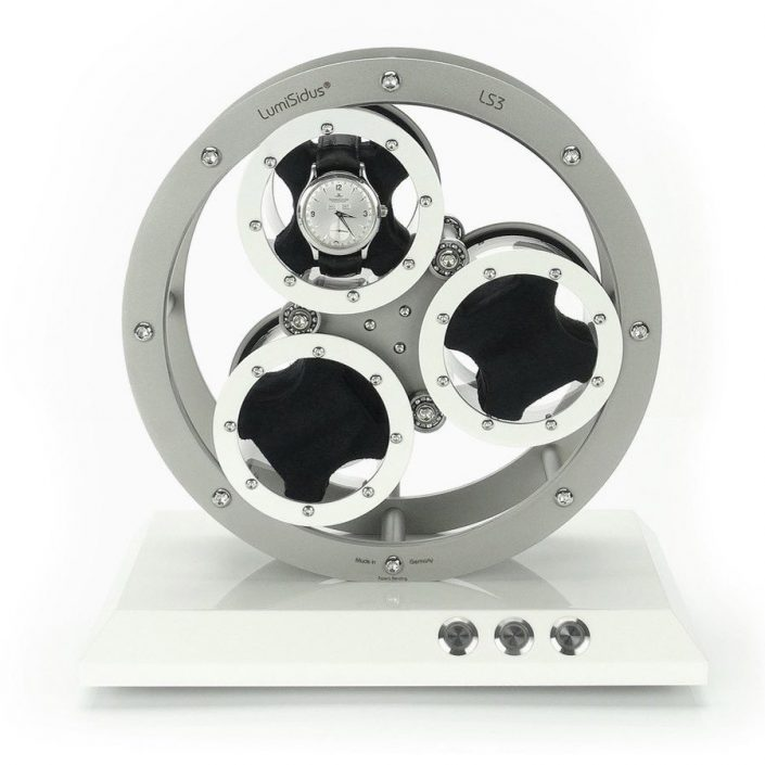 Biały rotomat do 3 zegarków LumiSidus