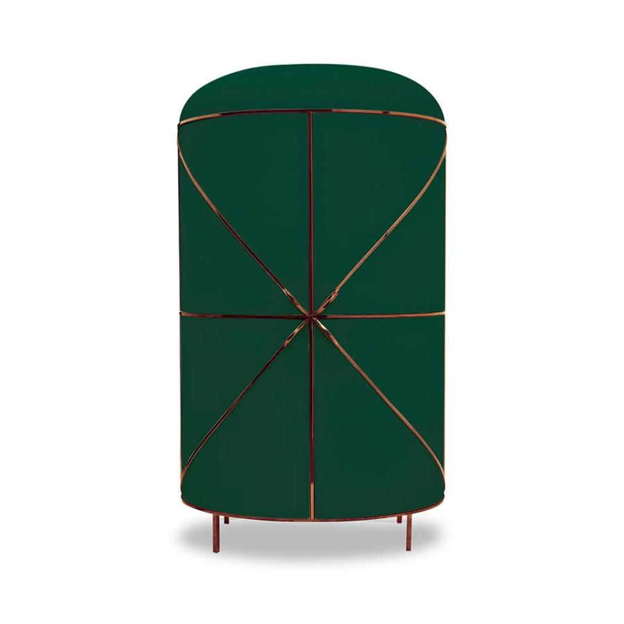 Designerski barek Nero 88 Secrets Scarlet Splendour zielono-miedziany