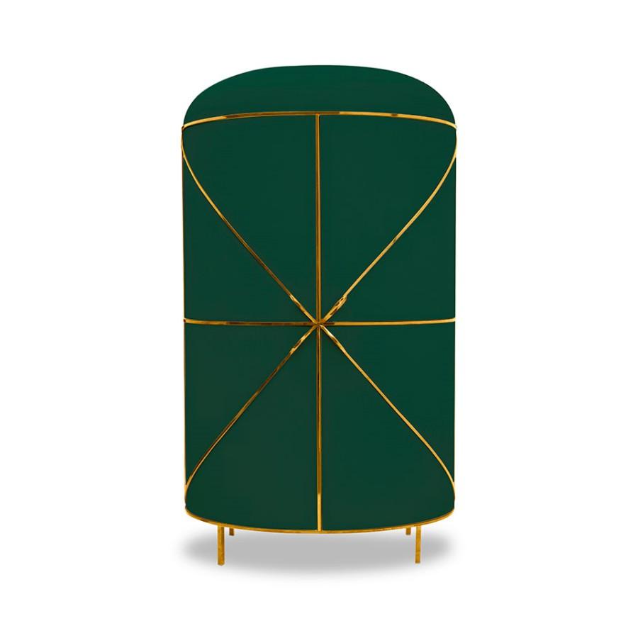 Designerski barek Nero 88 Secrets Scarlet Splendour zielono-złoty