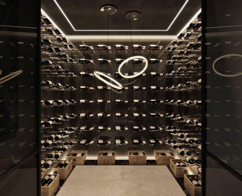 Domowa winiarka w nowoczesny stylu