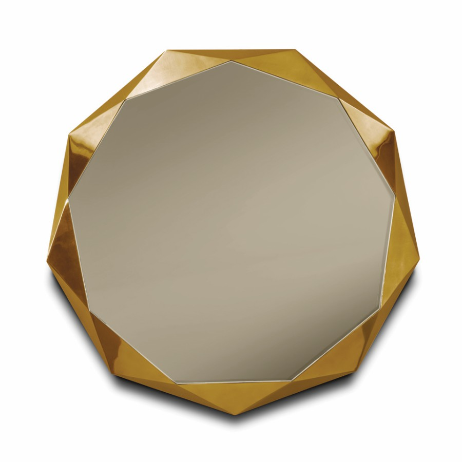 Duże miedziane i złote lustro ścienne Stella Scarlet Splendour