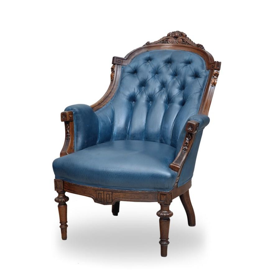 Elegancki fotel w stylu Chesterfield