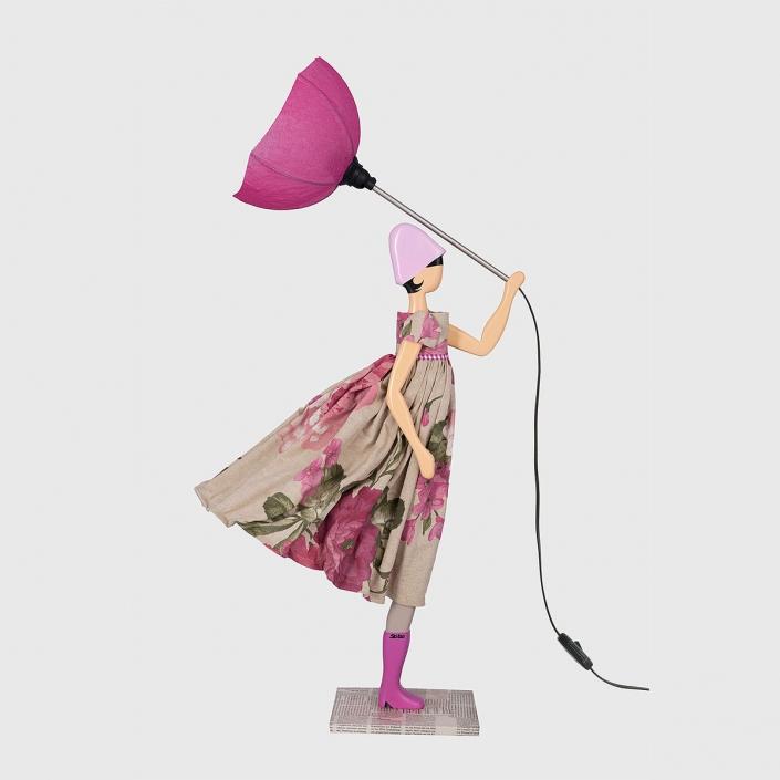 Fioletowa lampka dziewczynka Ortanse