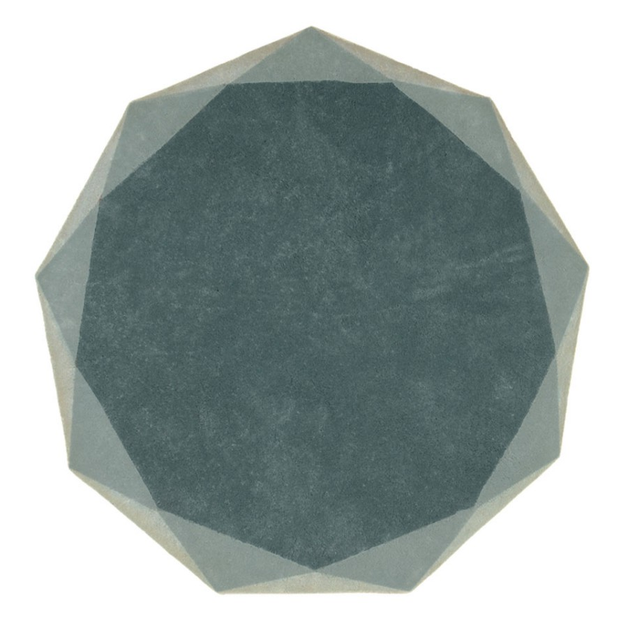 Heksagonalny dywan Stella Scarlet Splendour brudny błękit