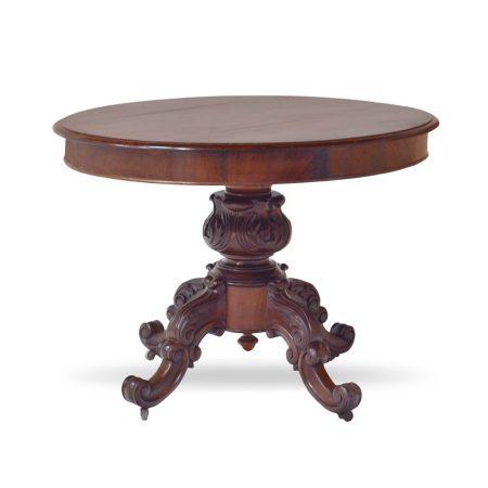 Holenderski stół okrągły z mahoniu - styl klasyczny