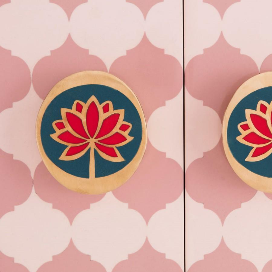 Kolorowy kabinet Lotus Sanctum Mandala Scarlet Splendour