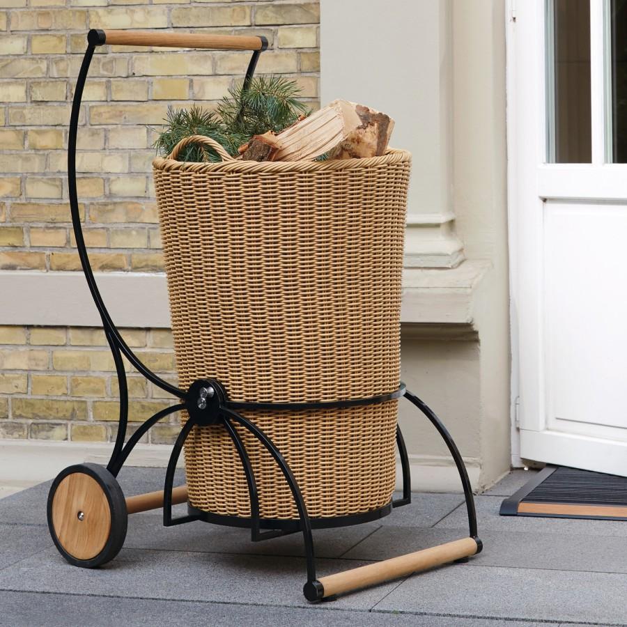 Kosz na drewno z wózkiem Garten Caddie Garpa