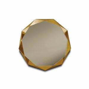 Małe miedziane i złote lustro ścienne Stella Scarlet Splendour