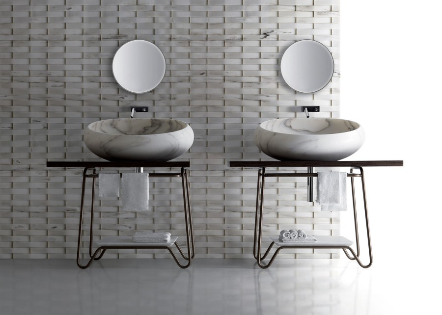 Marmurowe umywalki, misy w nowoczesnym stylu