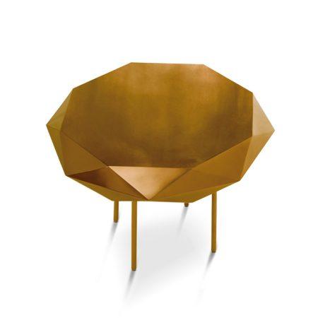 Miedziany i złoty stolik kawowy Stella średni Scarlet Splendour