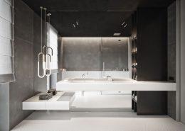 Minimalistyczna łazienka w eleganckiej odsłonie