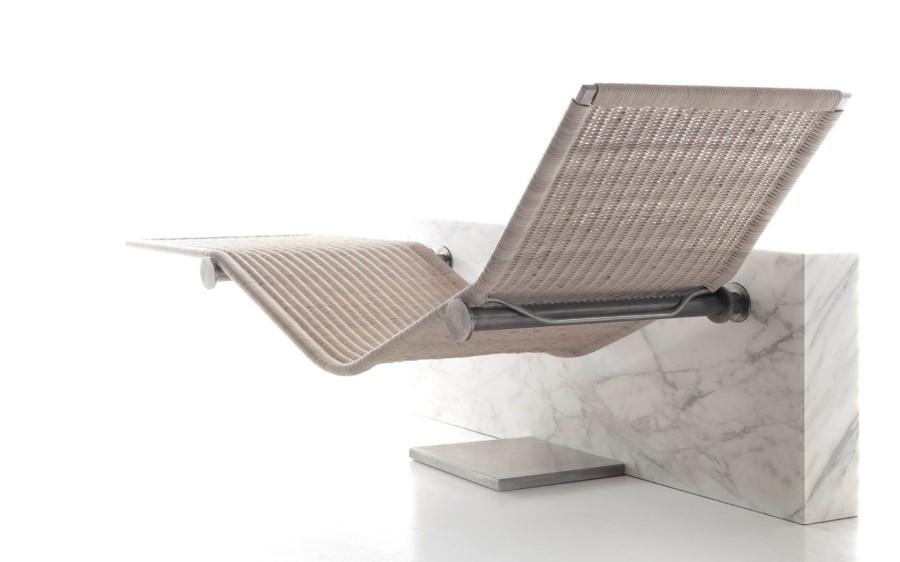 Nowoczesna leżanka z marmurową podstawą VIS A VIS Kreoo
