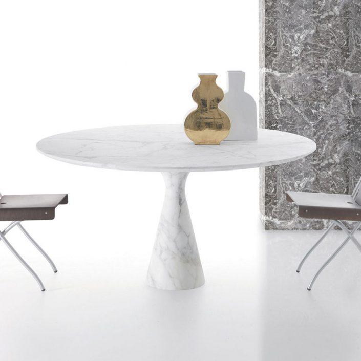 Okrągły stół z marmuru Torre Maxi Kreoo
