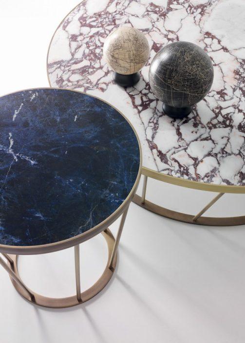 Okrągły stolik kawowy z marmuru Dora Kreoo