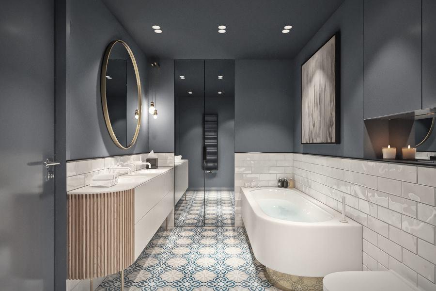 Oryginalna łazienka w eklektycznym wydaniu