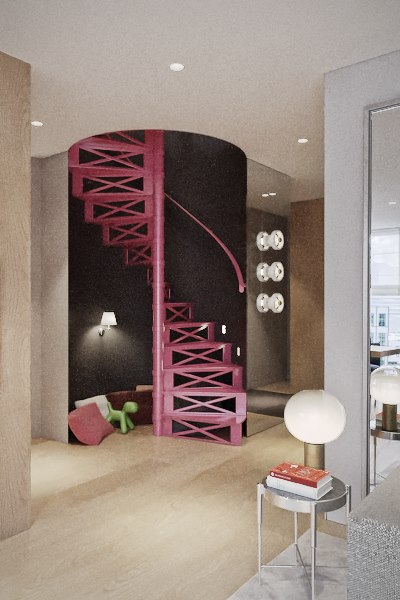 Projekt dwupoziomowego apartamentu