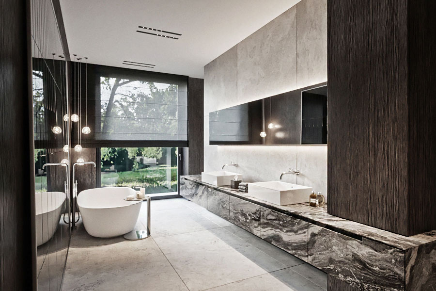 Projekt głównej łazienki w luksusowym wydaniu