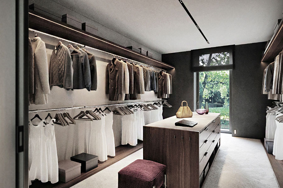 Projekt nowoczesnej garderoby