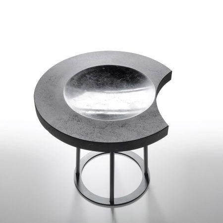 Stołek z marmurowym siedziskiem Moon Kreoo