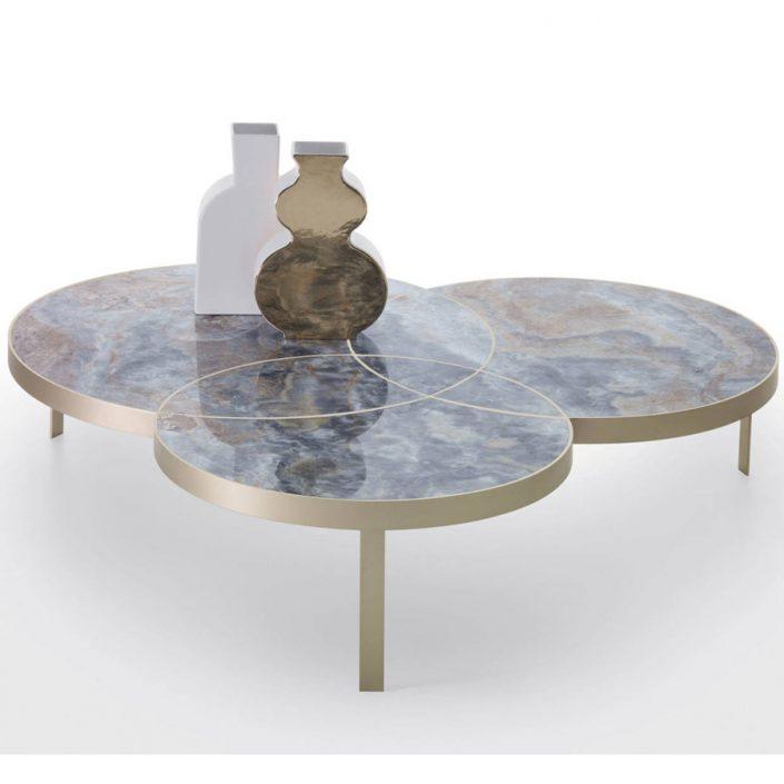 Stolik kawowy z marmurowym blatem Jackie Kreoo
