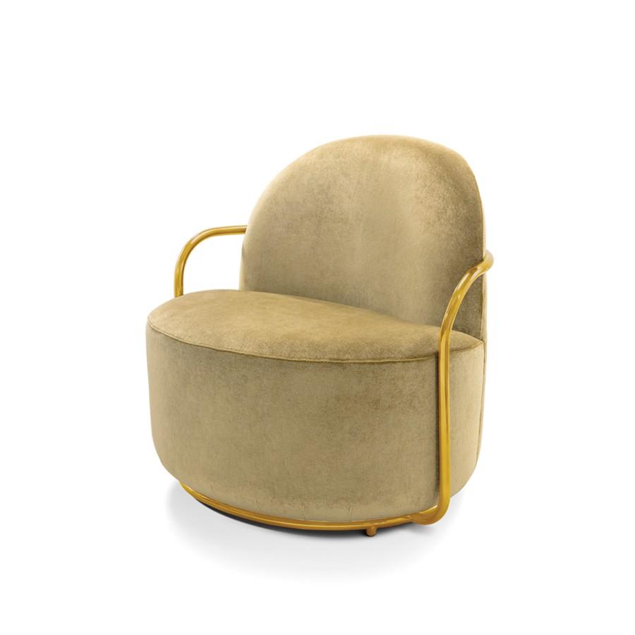 Stylowy fotel Orion Scarlet Splendour żółto-złoty