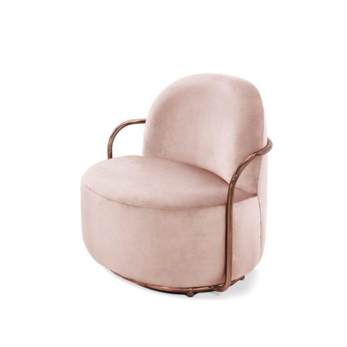 Stylowy fotel Orion Scarlet Splendour różowo-miedziany