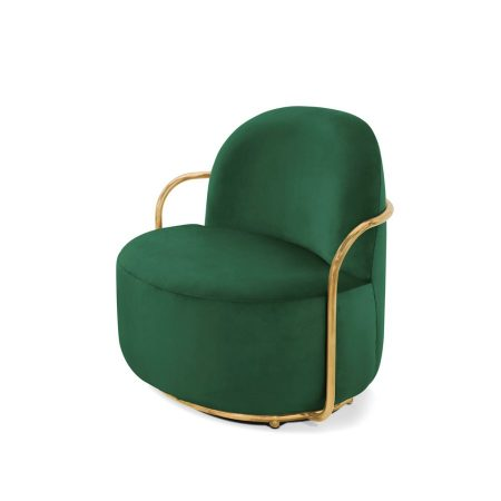 Stylowy fotel Orion Scarlet Splendour zielono-złoty