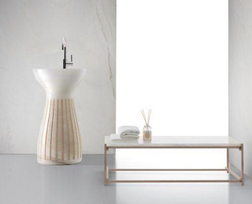 Umywalka kolumnowa z marumuru