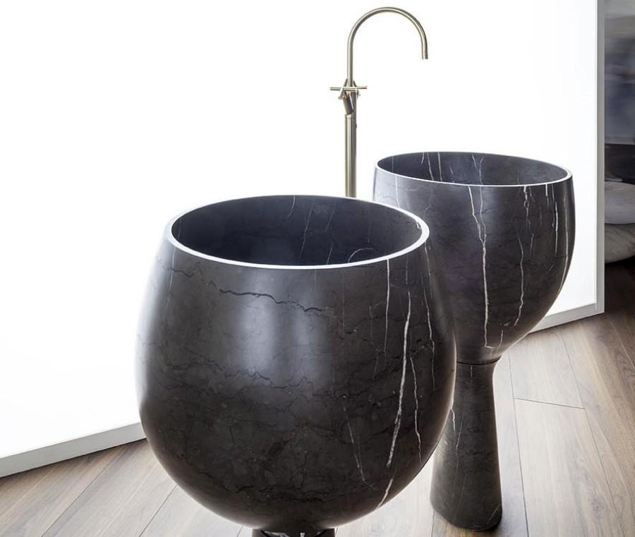 Umywalki z marmuru Amber Kreoo