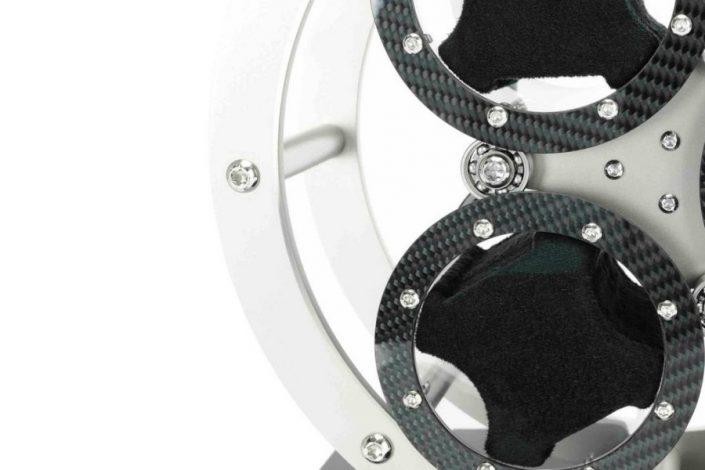 Węglowy rotomat do 3 zegarków LumiSidus