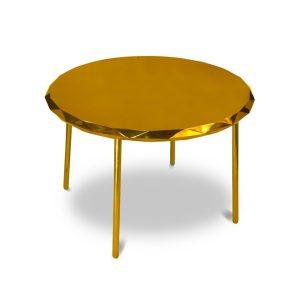 Złoty i miedziany stół jadalniany Stella Scarlet Splendour