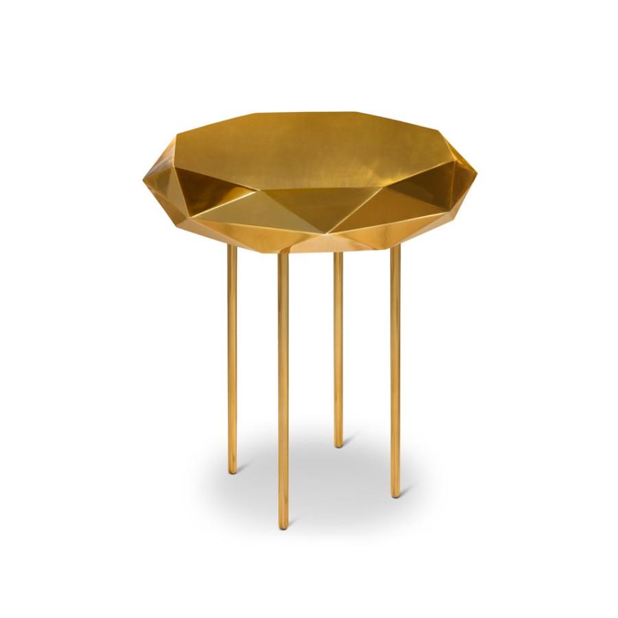 Złoty i miedziany stolik pomocniczy Stella Scarlet Splendour