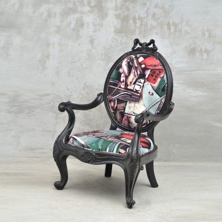 Zestaw eklektycznych mebli Period French sofa i fotele