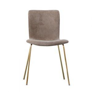 Beżowo-złote krzesło