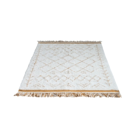Biało-beżowy dywan