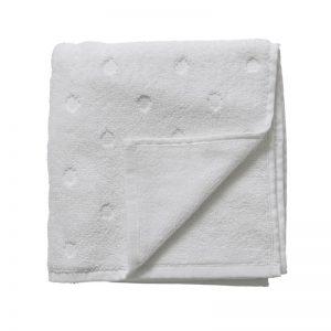 Biały ręcznik w kropki 140x70