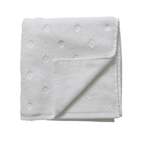 Biały ręcznik w kropki 70x50