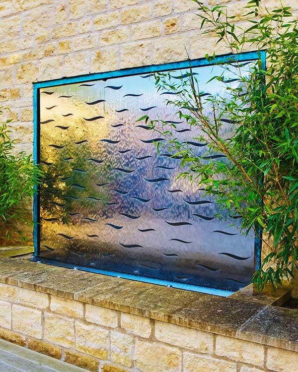 Ekskluzywne ściany wodne zewnętrzne David Harber