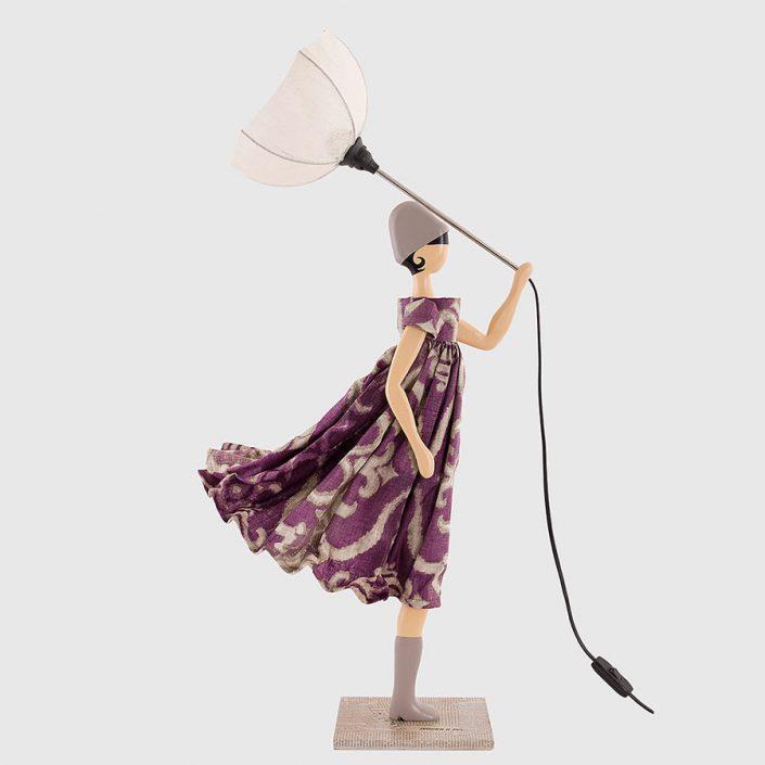 Fioletowa lampka dziewczynka Soultana Skitso