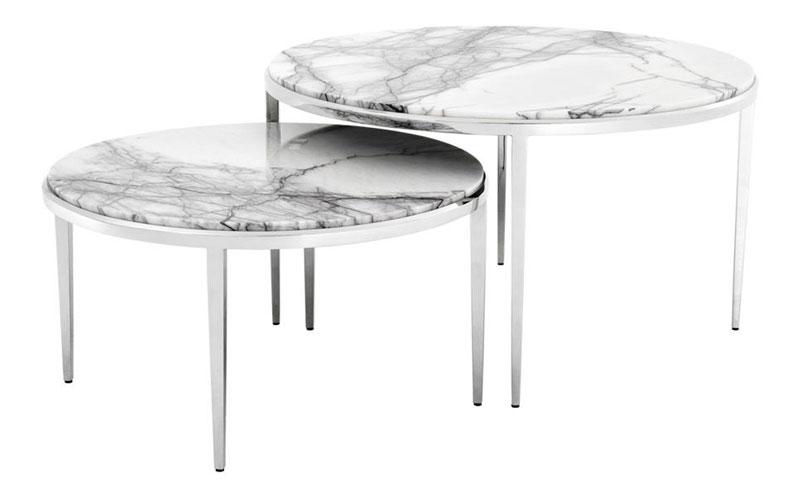 Marmurowe stoliki Fredo Eichholtz