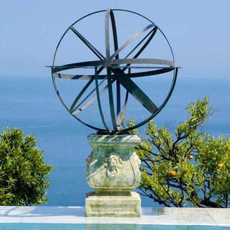 Mosiężny zegar słoneczny David Harber