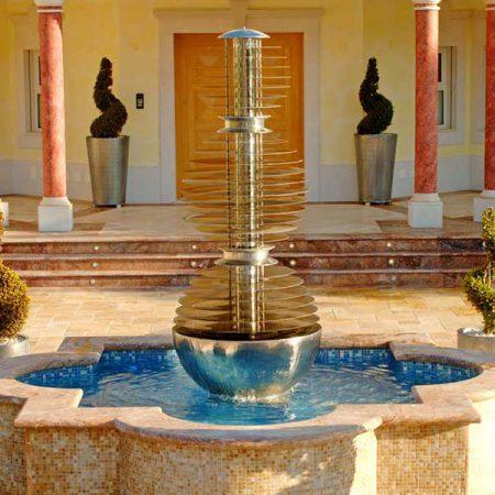 Nowoczesna fontanna wodna WATER SPHERES David Harber