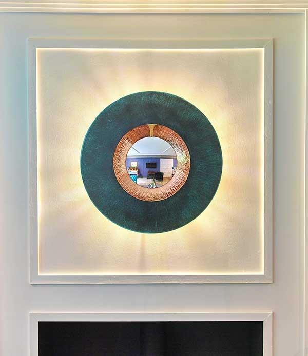 Okrągła rzeźba ścienna MIRAGE David Harber