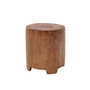 Okrągły stolik pomocniczy zewnętrzny stołek Suar 1