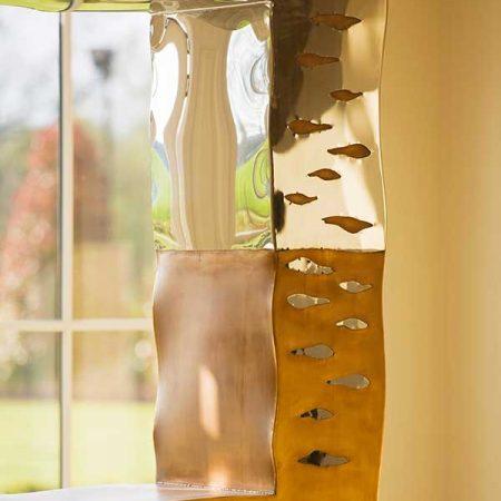 Rdzawa rzeźba w nowoczesnym stylu TITAN David Harber