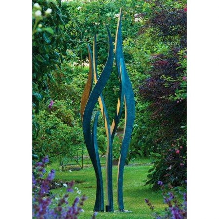 Rzeźba ogrodowa w nowoczesnym stylu patyna Hydra David Harber