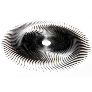 Srebrna rzeźba ścienna TURBINE David Harber