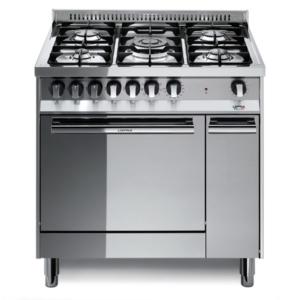 5-palnikowa kuchnia wolnostojąca gazowa z el. piekarnikiem MAXIMA INOX 80 MT86MFC Lofra