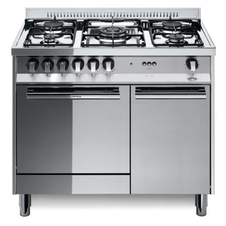 5-palnikowa kuchnia wolnostojąca gazowa z el. piekarnikiem MAXIMA INOX 90 M95EC Lofra